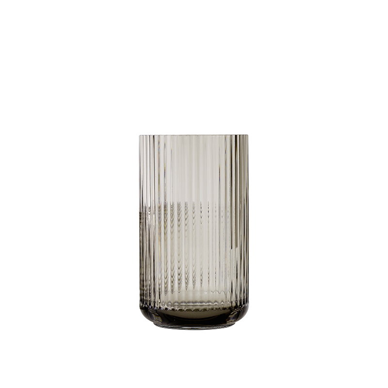 lyngby porcelain lyngby glass vase 25 cm smoke finnish design shop. Black Bedroom Furniture Sets. Home Design Ideas