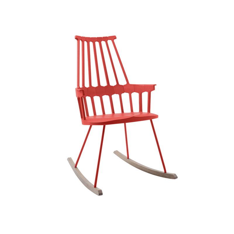 kartell sedia a dondolo comback rossa finnish design shop