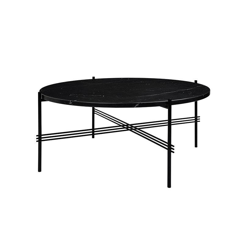 Gubi ts coffee table 80 cm black black marble for Coffee table 80cm x 80cm