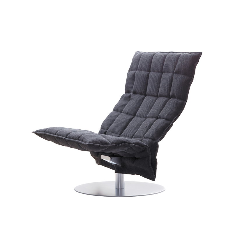 K Chair, Swivel Base, Wide, Graphite