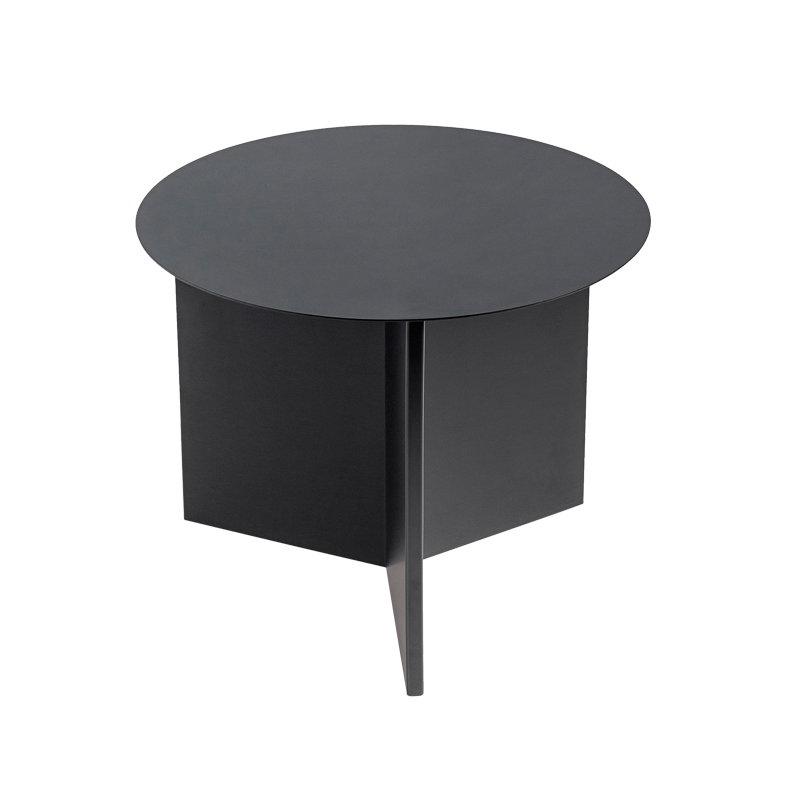 Hay tavolo slit rotondo nero finnish design shop for Tavolo rotondo nero