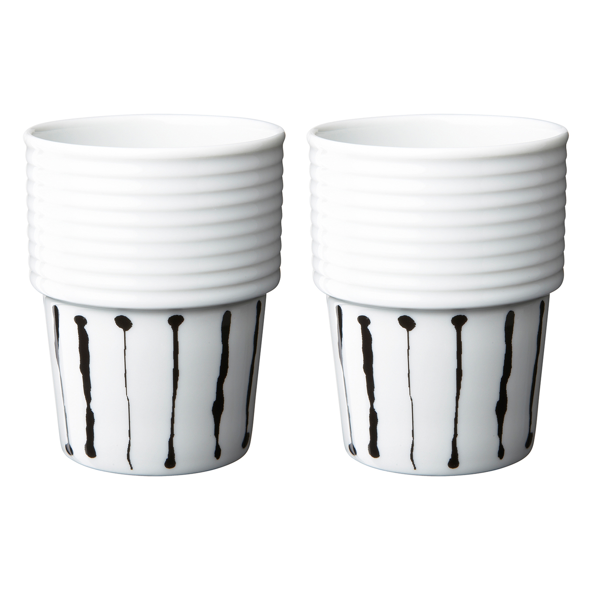 rörstrand filippa k coffee mug 0,31 l, 2 pcs, ink stripe