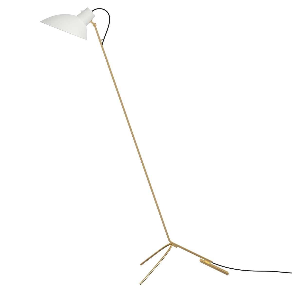 Astep Vv Cinquanta Floor Lamp, Brass - White