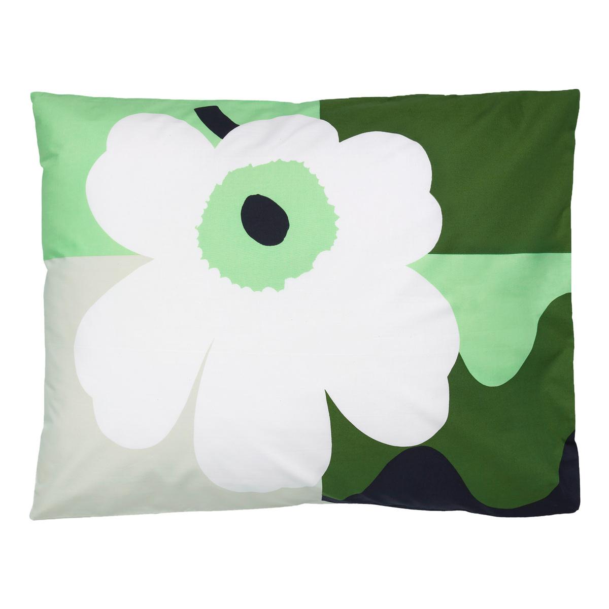Marimekko Co-Created Pillowcase 50 X 60 Cm, Green - White