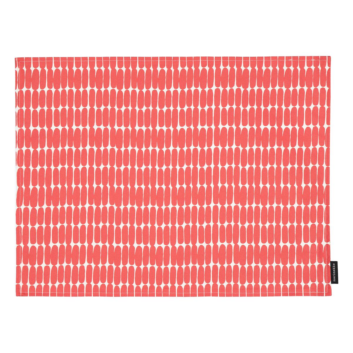 Marimekko Alku Coated Cotton Placemat White Red Finnish Design Shop