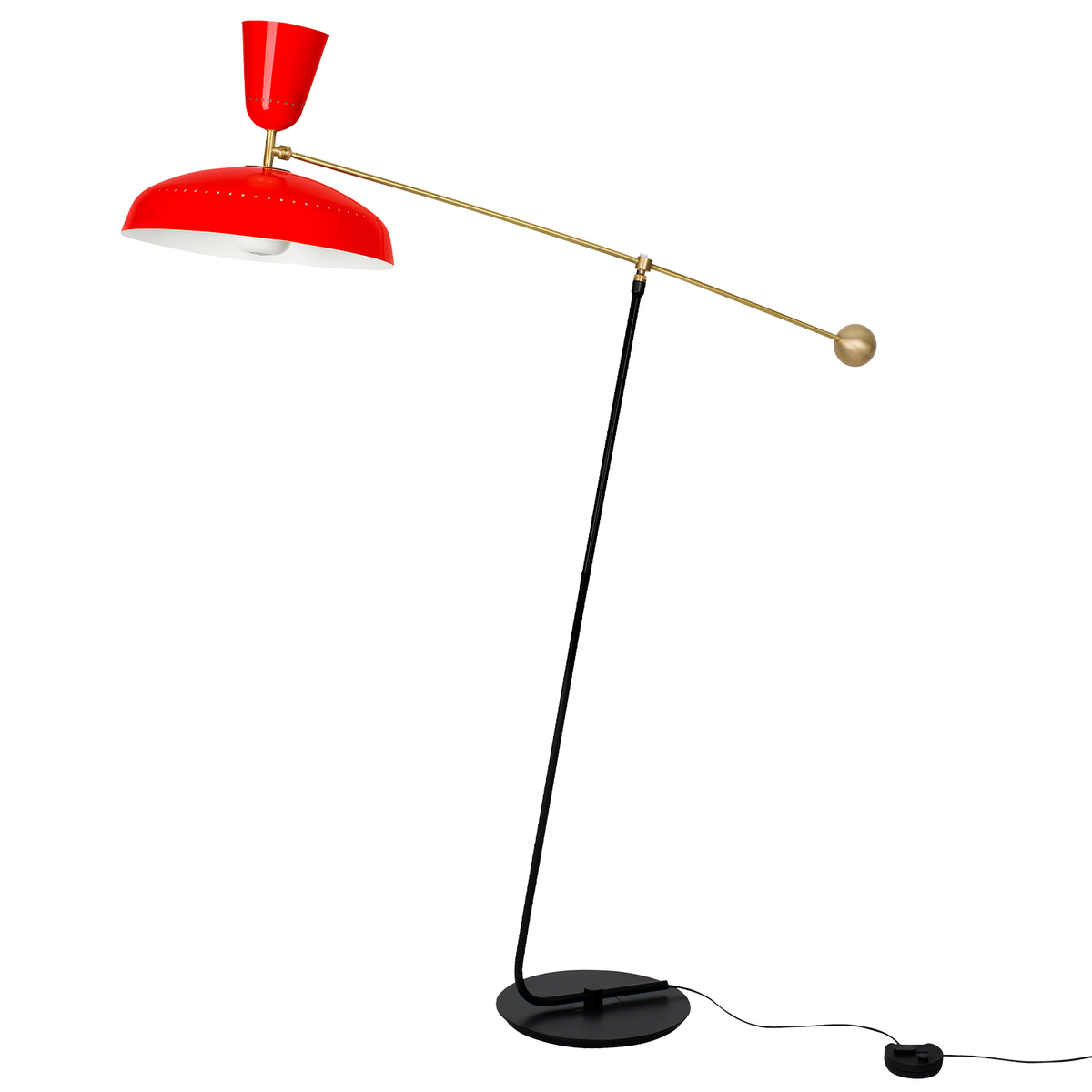 Sammode G1 Floor Lamp, Vermilion Red