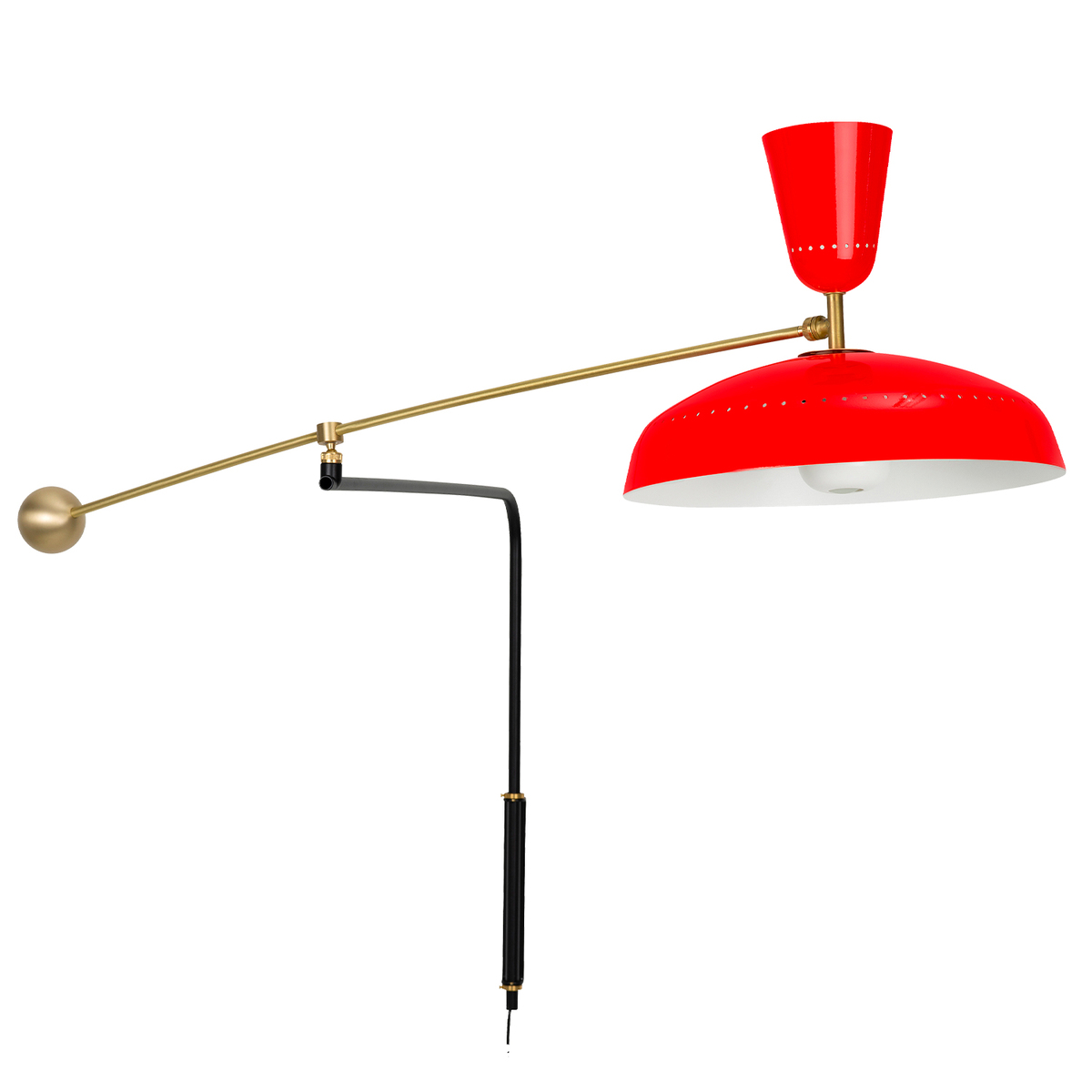 Sammode G1 Wall Lamp, Vermilion Red