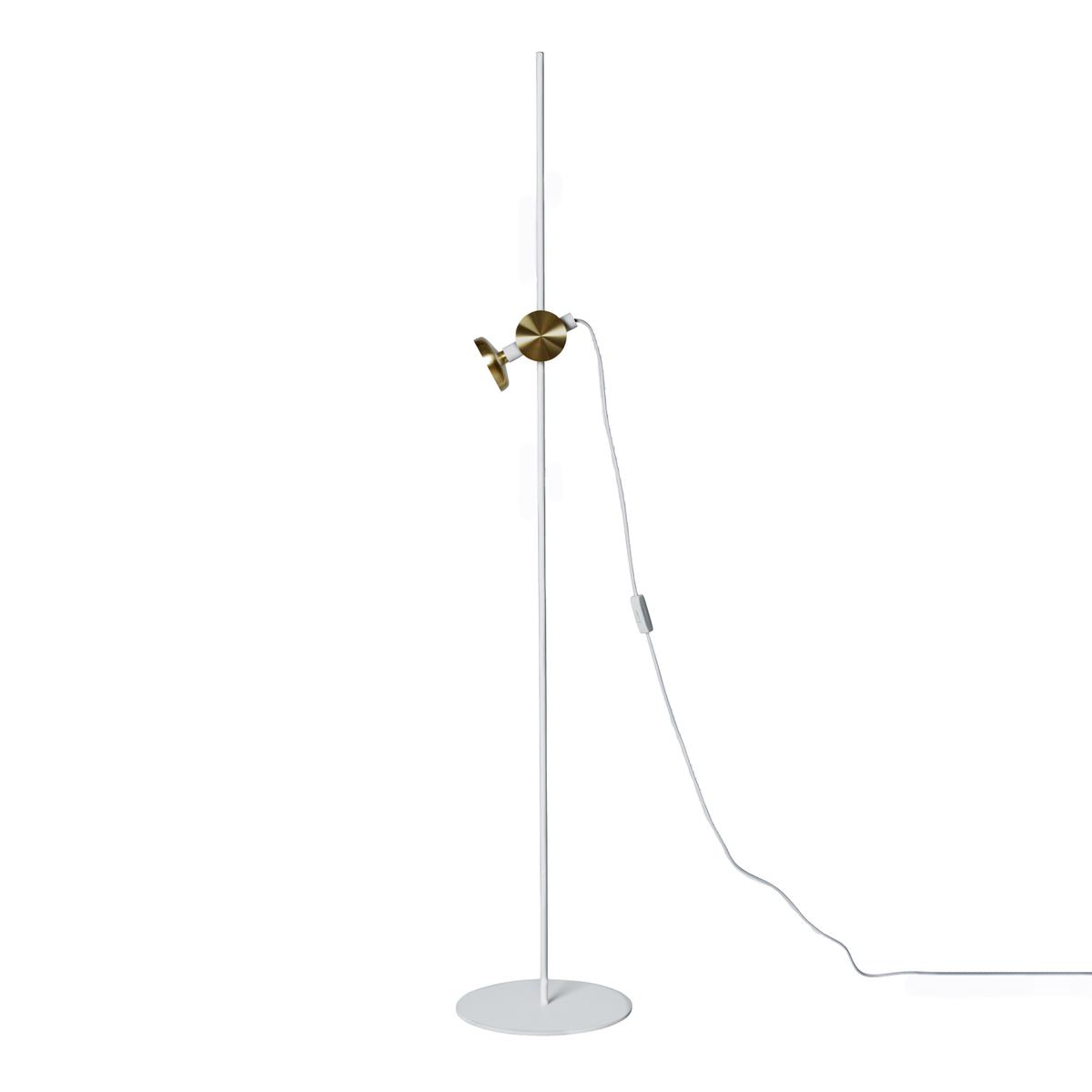 Pholc Blend Floor Lamp, White - Brass